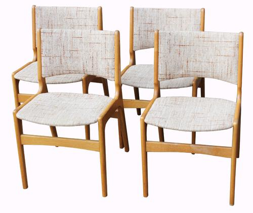 Set of Four Danish Oak Dining Chairs (1 of 1)