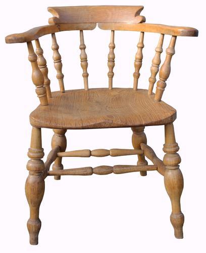 Victorian Elm Captain's Chair (1 of 1)