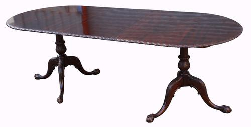 Mahogany Pedestal Dining Table by Richardson of Highgate c.1920 (1 of 1)
