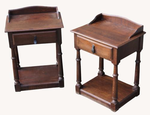 Pair of Oak Bedside Tables (1 of 1)