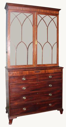 George III Secretaire Bookcase c.1810 (1 of 1)