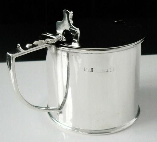 Large Silver Mustard Pot, Birmingham 1915, T H Hazlewood & Co (1 of 9)