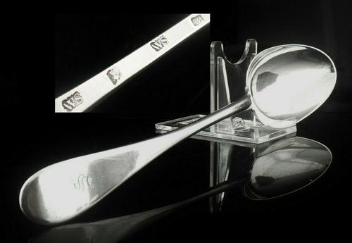 Scottish Provincial Silver Serving Table Spoon, William Scott, Dundee c.1780 (1 of 12)