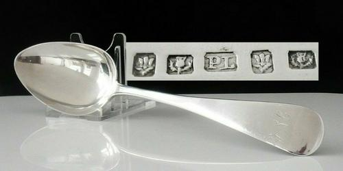 Scottish Provincial Silver Table Serving Spoon, Peter Lambert Dundee or Aberdeen (1 of 10)
