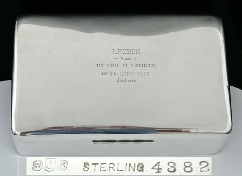 Large Silver Cigar Box, Gorham, Monymusk Scotland c.1949 (1 of 11)