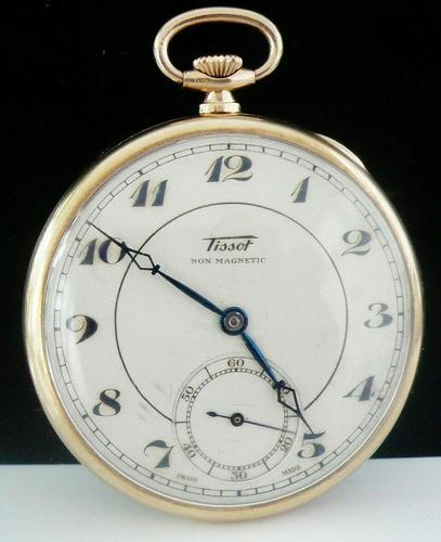 9ct Gold Tissot Open Face Pocket Watch From 1934 (1 of 12)