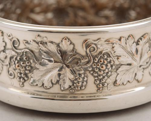 Lovely Pair of Edwardian Silver Plated Coasters c.1905 (1 of 4)