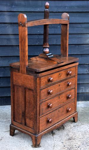 Exceptional & Unusual Small Proportioned Georgian Oak Chest with Press Top c.1820 (1 of 9)