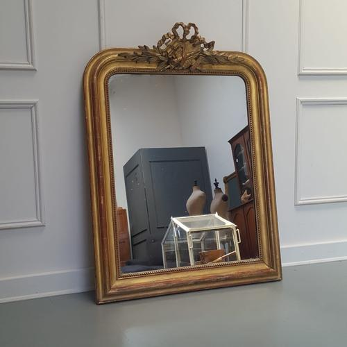 Antique French Artist Palette Gilded Mirror c.1870 (1 of 5)