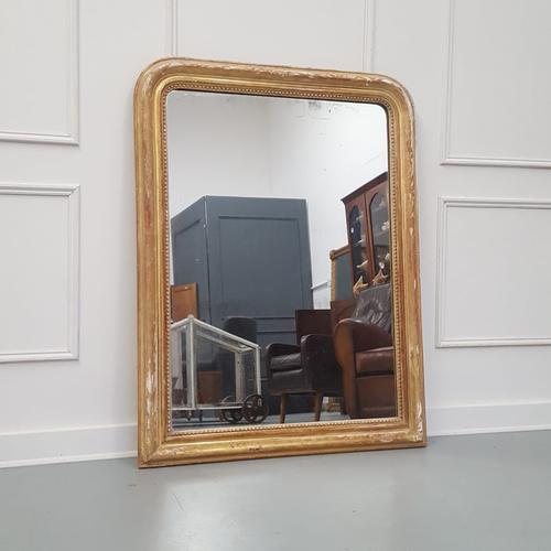 Antique Distressed French Mirror c.1880 (1 of 8)