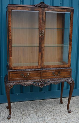 Walnut Display Cabinet (1 of 3)