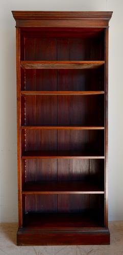Mahogany Open Bookcase c.1900 (1 of 4)
