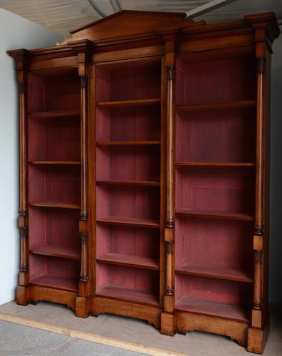 Victorian Mahogany Open Bookcase (1 of 2)