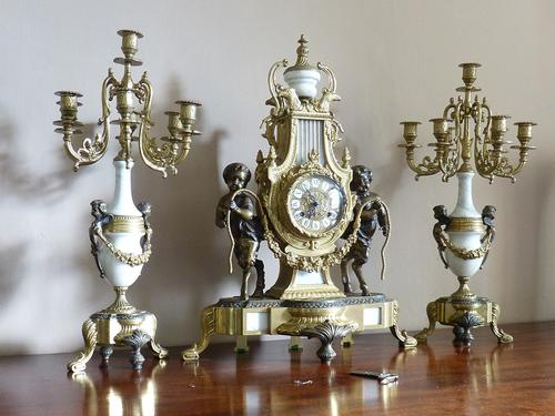 19th Century Style Italian Clock Set (1 of 6)