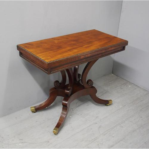 Regency Mahogany Tea Table by William Trotter (1 of 10)