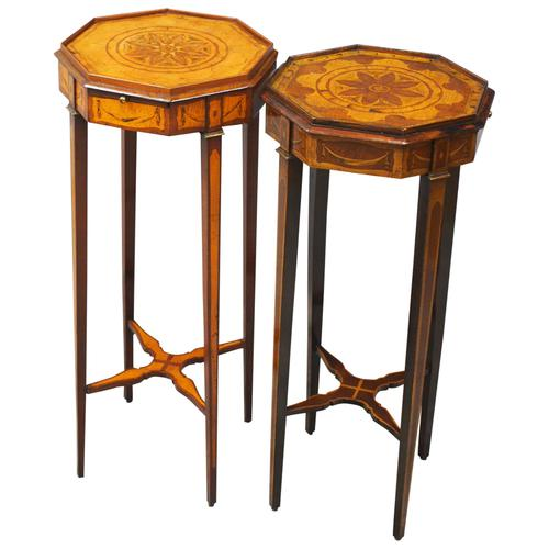 Matched Pair of Inlaid Stands c.1890 (1 of 11)