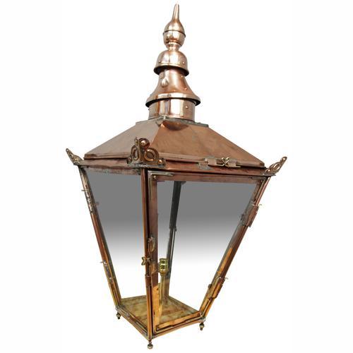 Edinburgh Copper & Steel Street Lamp (1 of 8)