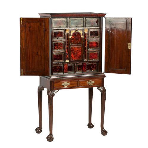 Flemish Mahogany & Tortoiseshell Cocktail Cabinet (1 of 20)