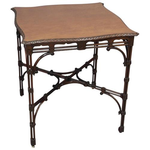 Chippendale Style Mahogany Occasional Table c.1900 (1 of 8)