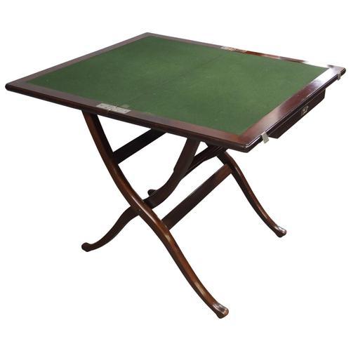 Mahogany Folding Campaign Desk C.1900 (1 of 13)