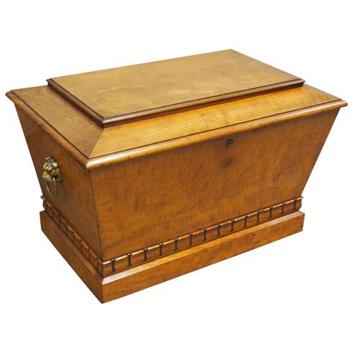 Regency Mahogany Sarcophagus Shaped Wine Cooler (1 of 11)