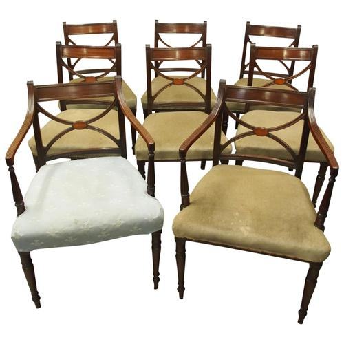 Set of 8 Regency Mahogany Dining Chairs (1 of 9)