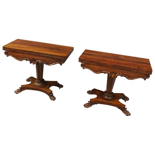 Pair of George IV Rosewood Card Tables (1 of 18)