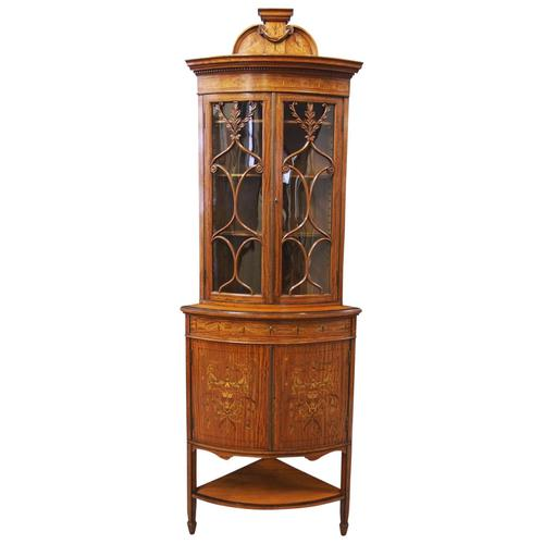Victorian Satinwood Corner Cabinet On Stand (1 of 16)