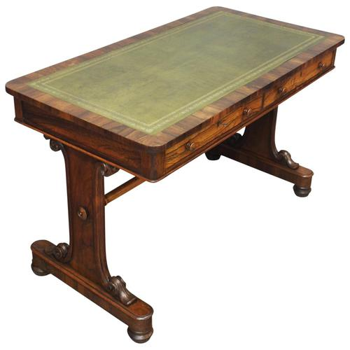 George IV Rosewood Library Table (1 of 11)