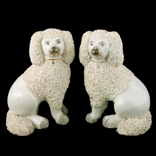 Pair of Victorian Staffordshire Poodles (1 of 7)