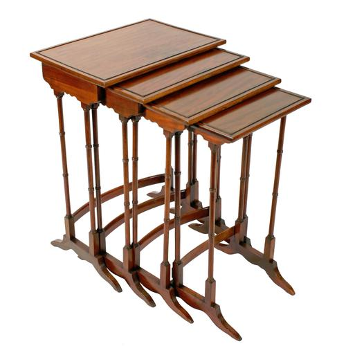 Nest of Four Regency Style Tables c.1900 (1 of 7)