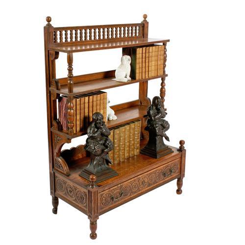 Arts & Crafts Oak Bookcase (1 of 8)