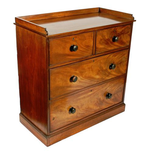 Mid 19th Century Mahogany Chest of Drawers (1 of 7)