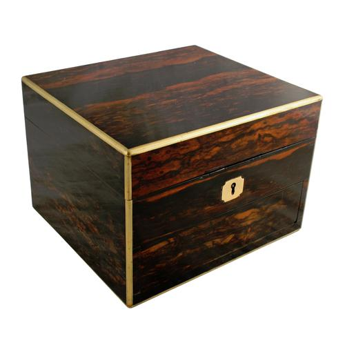 Coromandel & Brass Jewellery Box (1 of 9)