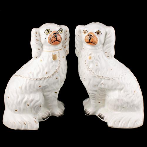 Pair of Victorian Staffordshire Dogs (1 of 7)
