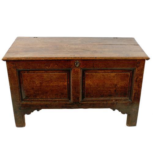 18th Century Oak Dower Chest (1 of 8)
