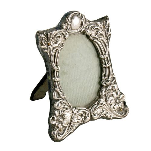 Small Victorian Sterling Silver Frame (1 of 8)