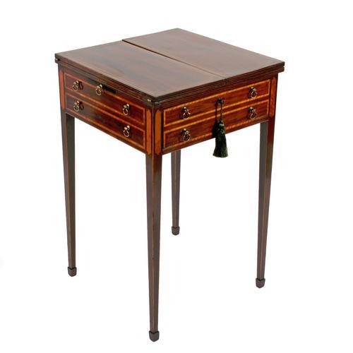 Sheraton Mahogany Patience Table (1 of 8)