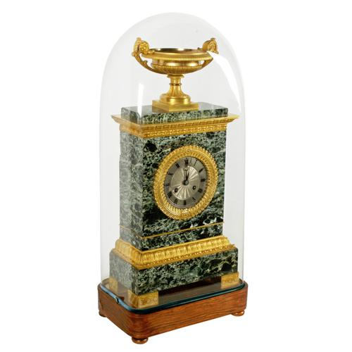 French Empire Marble & Ormolu Clock (1 of 11)