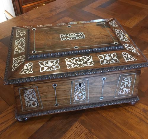 Rosewood Jewellery Box c.1890 (1 of 8)