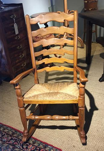 Country Ladder Back Rocking Chair (1 of 8)