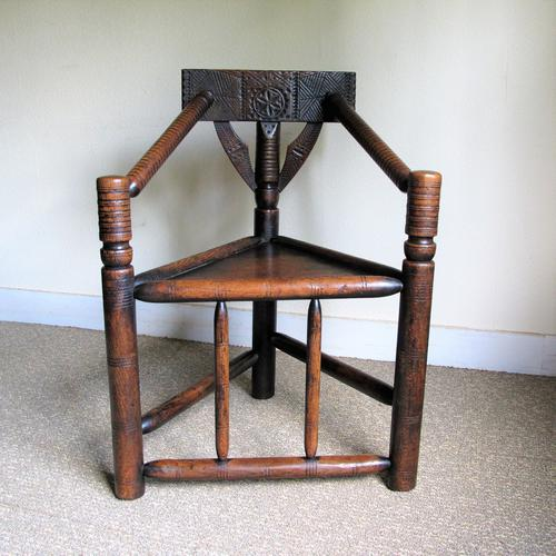 Oak Turners Chair c.1880 (1 of 5)