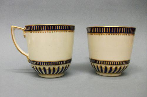Delightful RAre Pair of 18th Century Derby Porcelain Coffee Cups C.1770 (1 of 6)