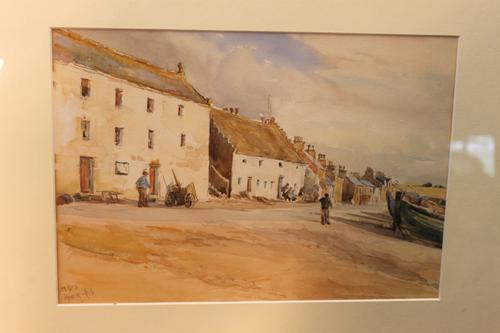 Fishing Village 1909 Watercolour L M Bowden-Smith (1 of 4)