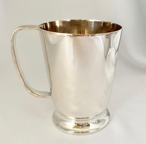 Walker & Hall Silver Plated Pint Tankard c.1900 (1 of 5)