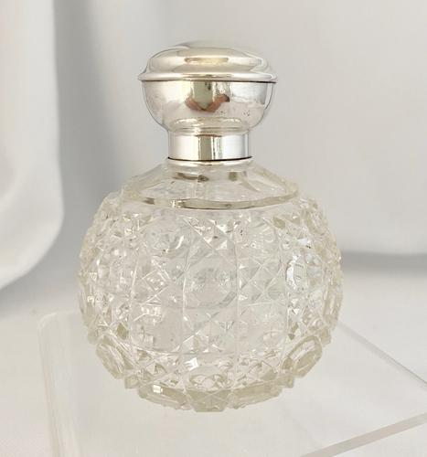 Silver Mounted Hobnail Cut Perfume Scent Bottle (1 of 6)