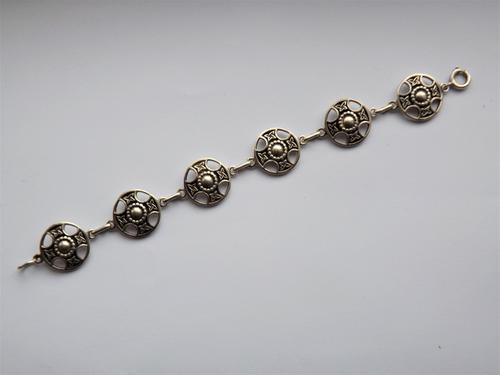 Vintage Scottish Sterling Silver Celtic Style Iona Bracelet - John Hart c.1950 (1 of 1)