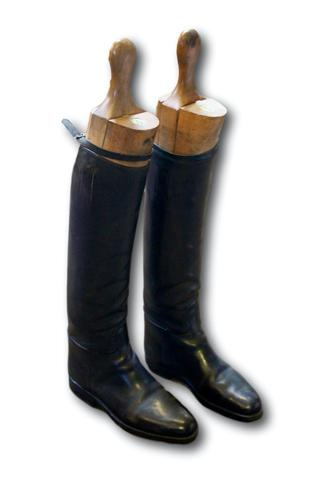 Pair of Gentlemans Hunting Boots by Tom Hill of Knightsbridge (1 of 3)