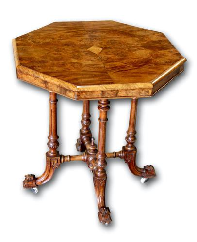 Victorian Walnut Occasional Table (1 of 5)