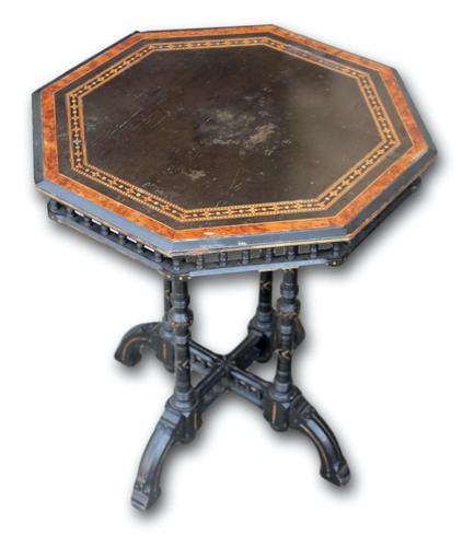 Victorian Ebonised Occasional Table (1 of 5)